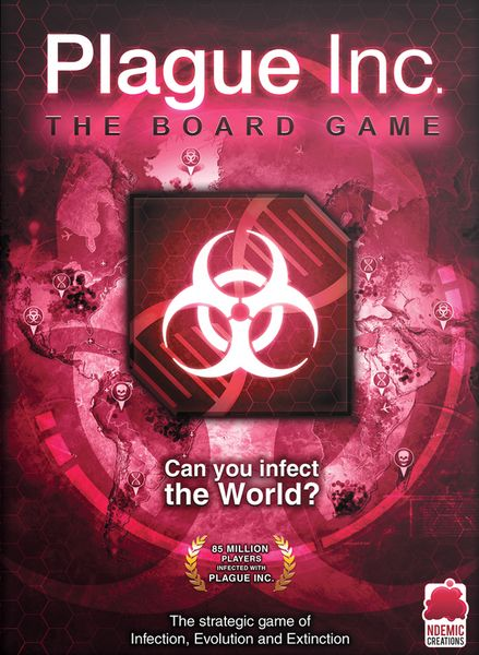 Plague Inc.: The Board Game, Ndemic Creations, 2016 — front cover