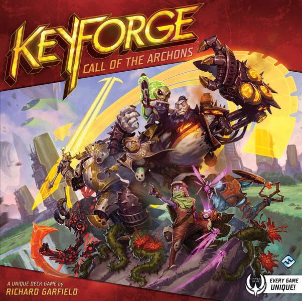 KeyForge: Call of the Archons, Fantasy Flight Games, 2018 — front cover (image provided by the publisher)