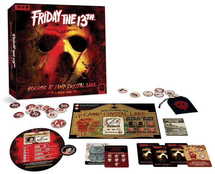 Friday the 13th: Horror at Camp Crystal Lake, The Op, 2020 — box and components (image provided by the publisher)