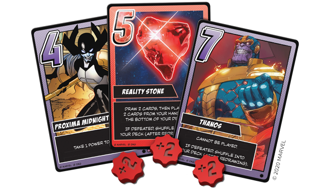 Infinity Gauntlet: A Love Letter Game - villains cards and tokens