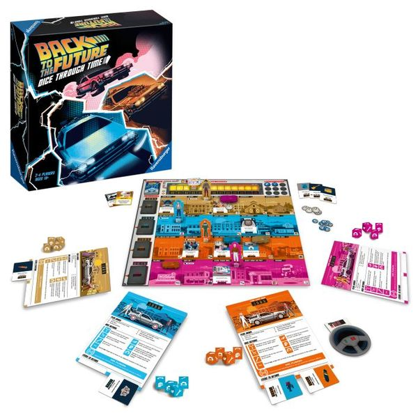 Back to the Future: Dice Through Time, Ravensburger, 2020 — box and components