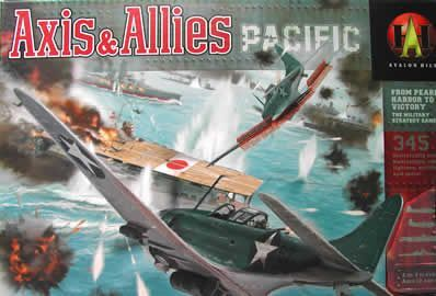 "a picture showing the ""345"" box cover for Axis & Allies: Pacific"