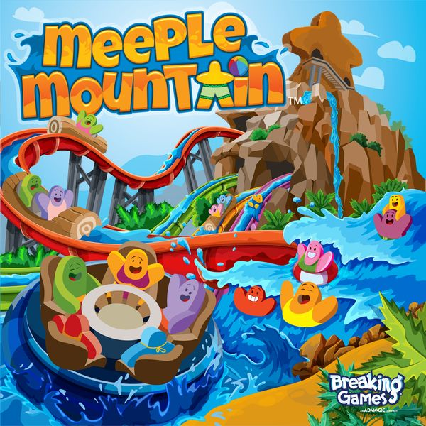 Meeple Mountain, Breaking Games, 2020 — front cover (image provided by the publisher)