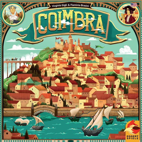 Coimbra, eggertspiele, 2018 — front cover (image provided by the publisher)