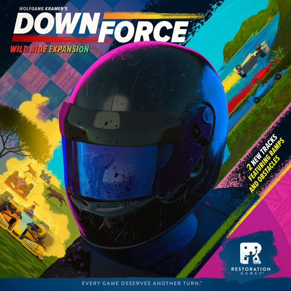 Downforce: Wild Ride, Restoration Games, 2019 — front cover (image provided by the publisher)