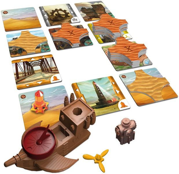 Die vergessene Stadt, Schmidt Spiele, 2013 – some of the components (image provided by the publisher)