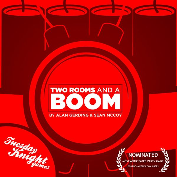 New cover for Two Rooms and a Boom