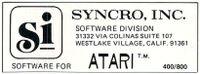 Hardware Manufacturer: Syncro, Inc