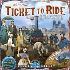 Ticket To Ride Map Collection Volume 6 France Old West Board