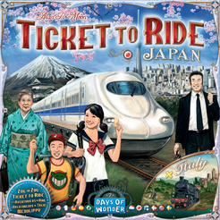 Ticket to Ride Map Collection: Volume 7 – Japan & Italy Cover Artwork