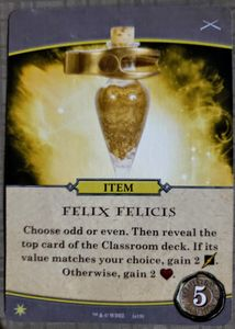 Harry Potter Hogwarts Battle Defence Against The Dark Arts Felix Felicis Promo Card Board Game Boardgamegeek