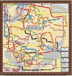 Eastern Europe Fan Expansion To Ticket To Ride Board Game
