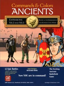 Commands & Colors: Ancients Expansions #2 and #3 – Rome vs the Barbarians; The Roman Civil Wars Cover Artwork