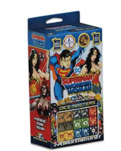 DC Comics Dice Masters: Superman and Wonder Woman Starter Set Cover Artwork