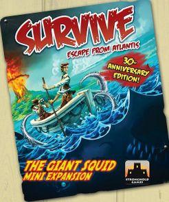 Survive: Escape from Atlantis! The Giant Squid Mini Expansion Cover Artwork