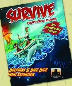 Survive: Escape from Atlantis! Dolphins & Dive Dice Mini Extension Cover Artwork