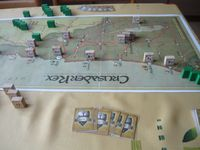 My own version of Crusader Rex. Starting deployment. Kingdom of Jerusalem.
