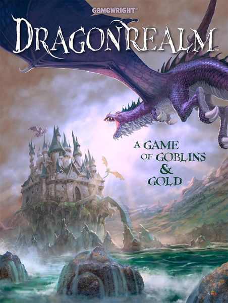 Dragonrealm, Gamewright, 2019 — front cover (image provided by the publisher)