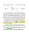 RPG Item: Super Heroes and Heroines
