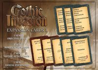 Board Game: Gothic Invasion: Cards Expansion 1