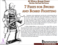 RPG Item: Bullet Points: 7 Feats For Sword and Board Fighting
