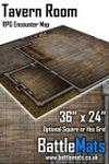 "RPG Item: Tavern Room 36"" x 24"" RPG Encounter Map"