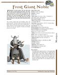 RPG Item: Frost Giant Noble