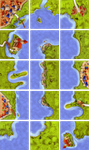 Board Game: The Coast (fan expansion for Carcassonne)