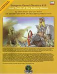 RPG Item: DCC #015: Lost Tomb of the Sphinx Queen