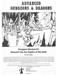 RPG Item: D1: Descent into the Depths of the Earth