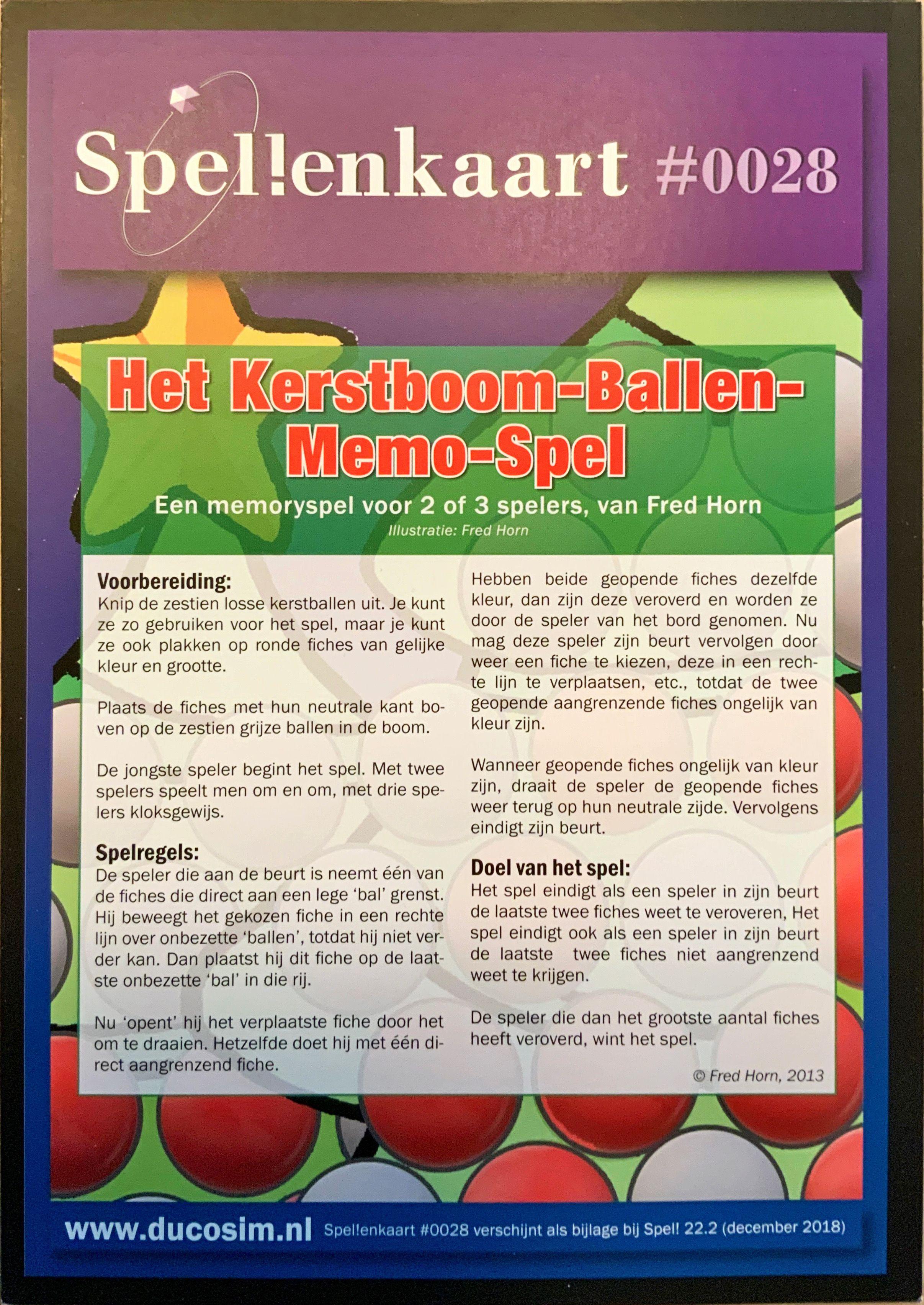 Het Kerstboom-Ballen-Memo-Spel