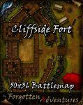 RPG Item: Cliffside Fort 50x36 Battlemap