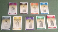The city land cards are stacked.