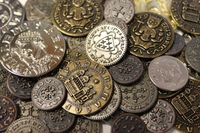 Board Game Accessory: Fief: France 1429 – Medieval Metal Coin Set