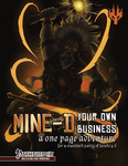 RPG Item: Mine-d Your Own Business (Pathfinder)
