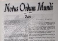 Issue: Novus Ordum Mundi (Issue 4 - 2001)