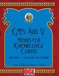 RPG Item: GM's Aid V: Monster Knowledge Card Volume 3 - Pegasus to Zombie