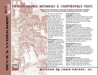 RPG Item: Libellus Magnus: Metamagic & Counterspells Feats