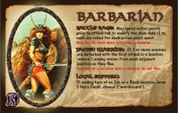 Board Game: Defenders of the Realm: The Barbarian