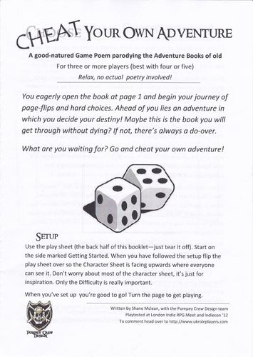 RPG Item: Cheat Your Own Adventure