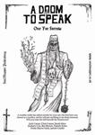 RPG Item: A Doom To Speak: One for Sorrow