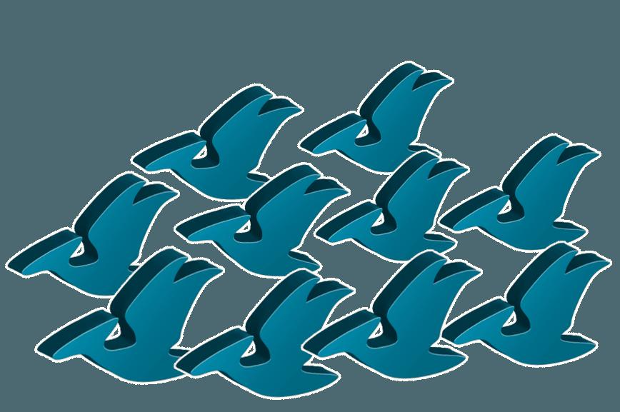 Pterodactyl dino-meeples