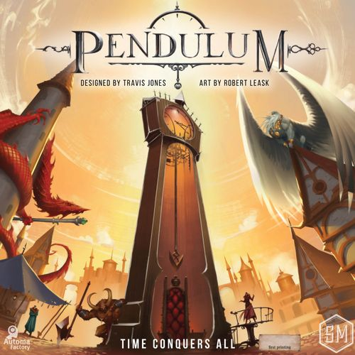 Pendulum, Stonemaier Games, 2020 — front cover (image provided by the publisher)
