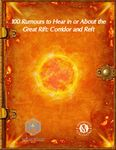 RPG Item: 100 Rumours to Hear in or About the Great Rift: Corridor and Reft