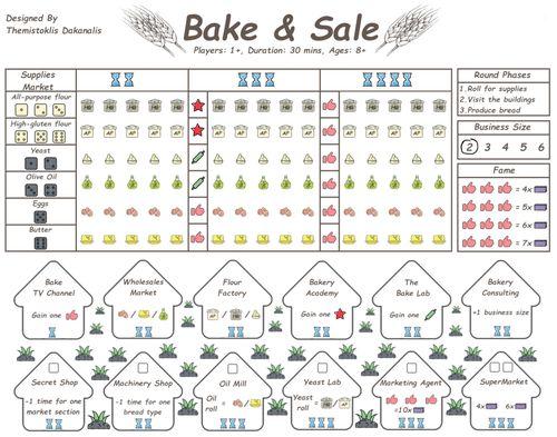 Board Game: Bake & Sale