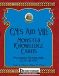 RPG Item: GM's Aid VIII: Monster Knowledge Cards - Pathfinder Roleplaying Game Edition