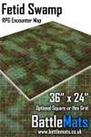 """RPG Item: Fetid Swamp 36"""" x 24"""" RPG Encounter Map"""