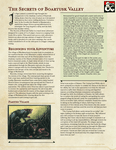 RPG Item: The Secrets of Boartusk Valley
