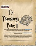 RPG Item: The Thaumaturgic Codex II