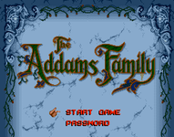 Video Game: The Addams Family
